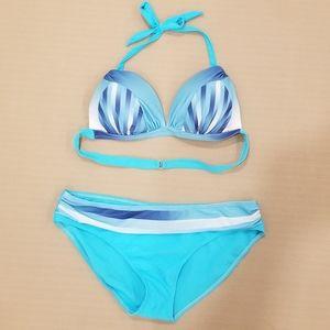 ⭐2/$20⭐Turquoise Bikini swimsuit sz L